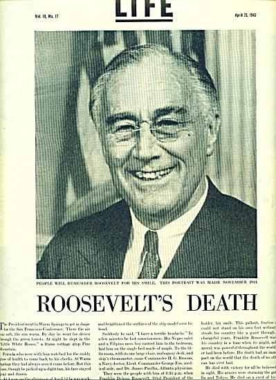 1945 -  DEATH OF PRESIDENT ROOSEVELT (Image1)