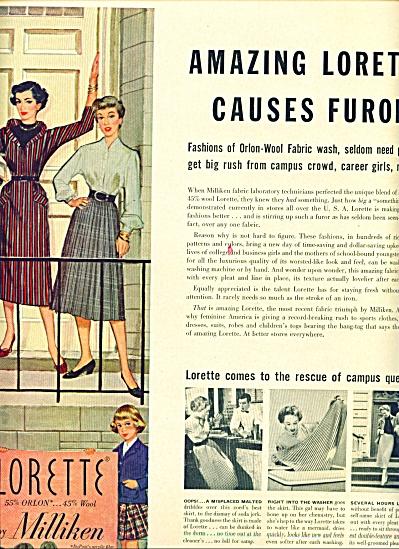 1953 -  LORETTE  by Milliken ad (Image1)