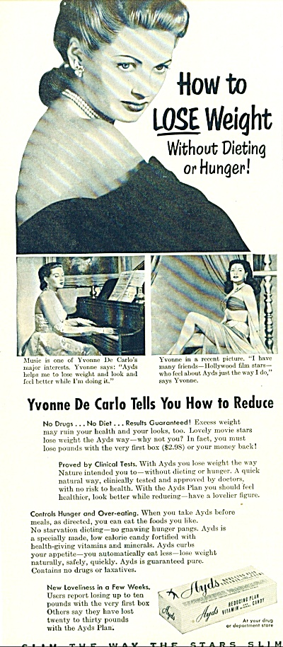1953 -  Ayds reducing plan ad-YVONNE DE CARL0 (Image1)