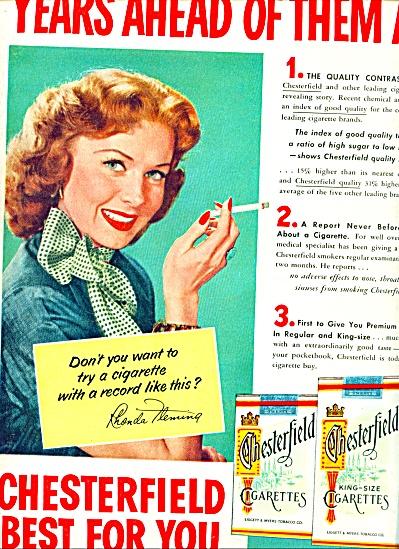 1953 - Chesterfield cigarettes -RHONDA FLEMIN (Image1)