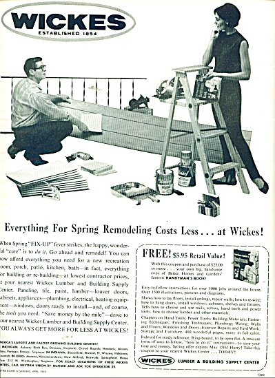 Wickes lumber & building supply center ad (Image1)
