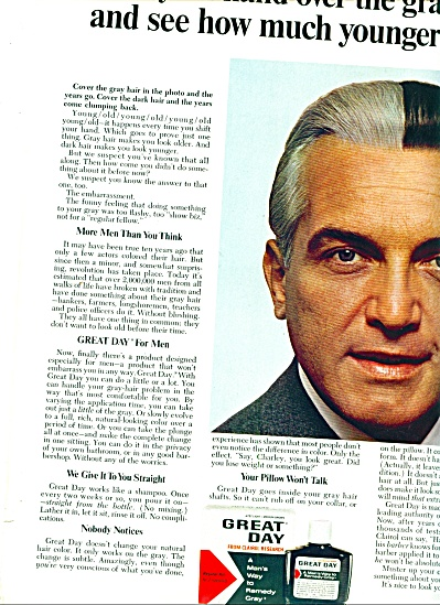 1966 -  Great Day gray hair remedy ad (Image1)
