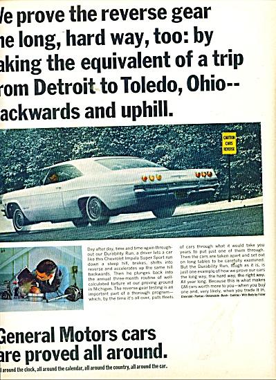 General Motors cars ad 1965 Chevy Impala (Image1)