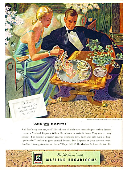 1947 -  Masland Broadlooms ad (Image1)