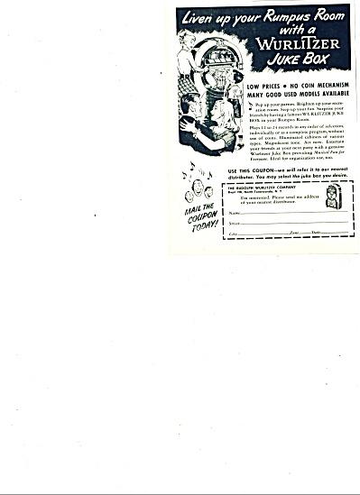 1947 -  Wurlitzer Juke Box ad (Image1)