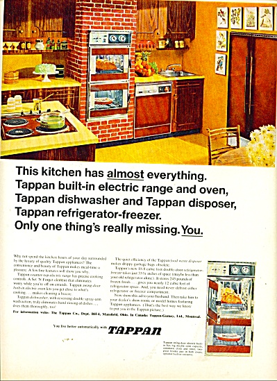 Tappan electric range and oven 1965 (Image1)