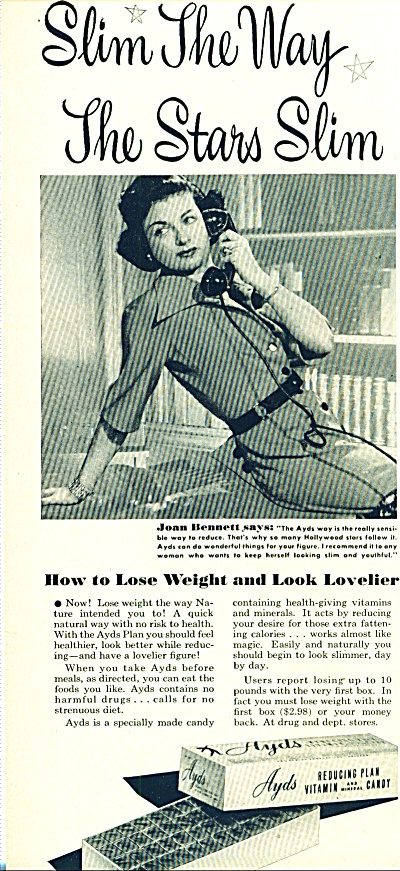 1950 -  Ayds reducing plant - JOAN BENNETT (Image1)