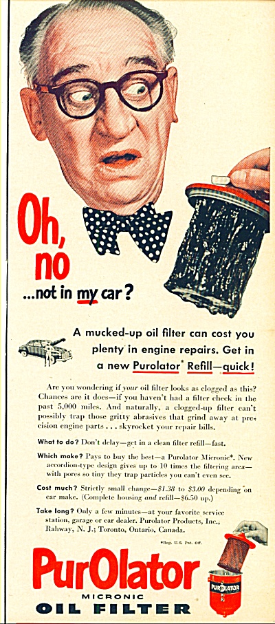 1950 - Purolator Oil Filter - Walter Catlett