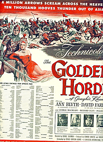1950 -  Movie; THE GOLDEN HORDE of Genghis (Image1)