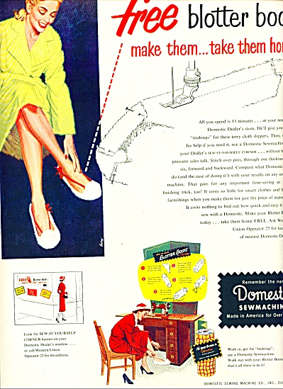 1950 - Domestic Sewmachines Ad