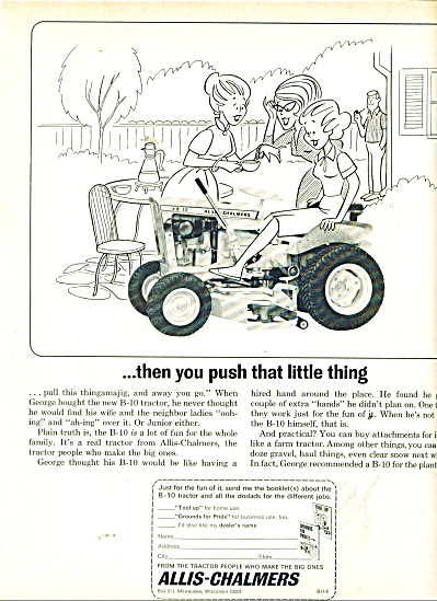 Allis Chalmers Grass Cutter Ad 1956