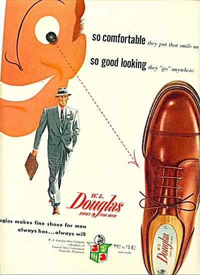 1950 -  W. L. Douglas shoes for men ad (Image1)