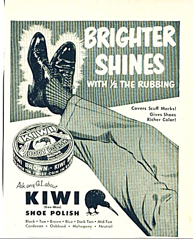 1950 -  KIWI shoe polish ad (Image1)