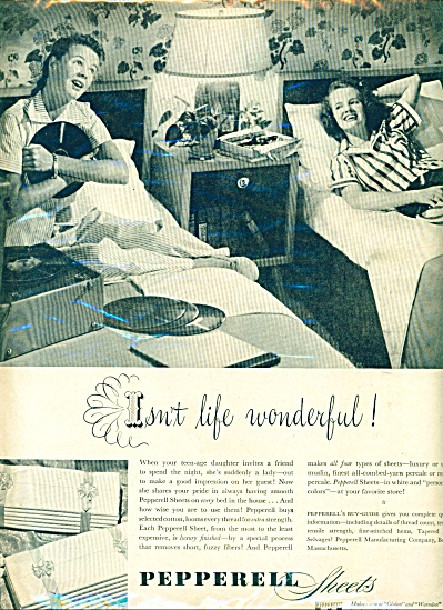 1949 - Pepperell Sheets Ad