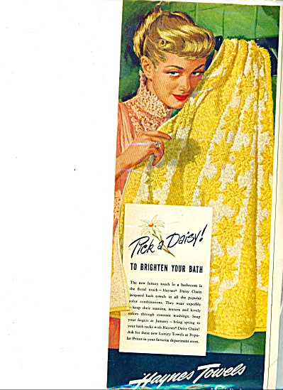 1949 - Haynes towels ad (Image1)