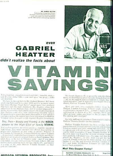 1958 -  Hudson Vitamin products-GABRIEL HEATT (Image1)