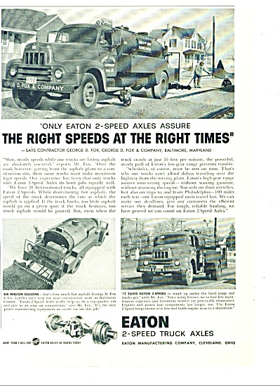 1958 -  Eaton 2 speed truck axles ad (Image1)