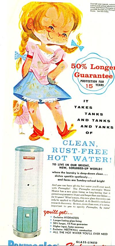 1958 -  Permaglas water heaters ad (Image1)