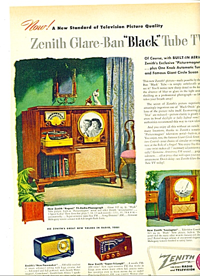 1949 -  Zenith Radio and television ad (Image1)
