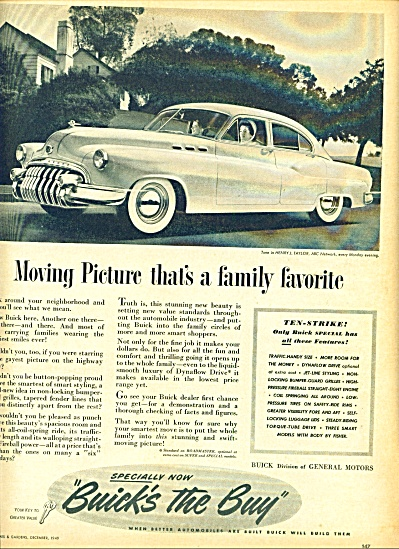 1949 - Buick Automobile Ad