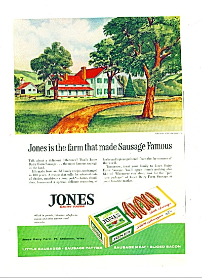 1961 -  Jones Dairy farm ad (Image1)