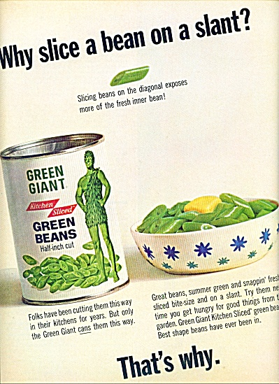 1964 - Green Giant Green Beans Ad