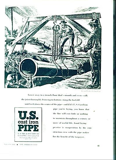 U. S, Cast Iron pipe ad 1946 (Image1)