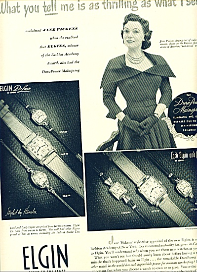1949 -  Elgin watches - JANE PICKENS (Image1)