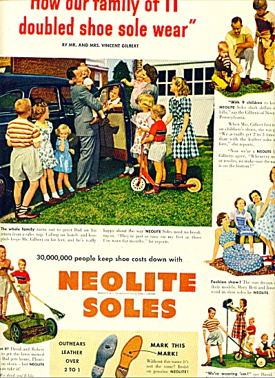 1949 -  Neolite soles ad VINCENT GILBERT FAMILY (Image1)