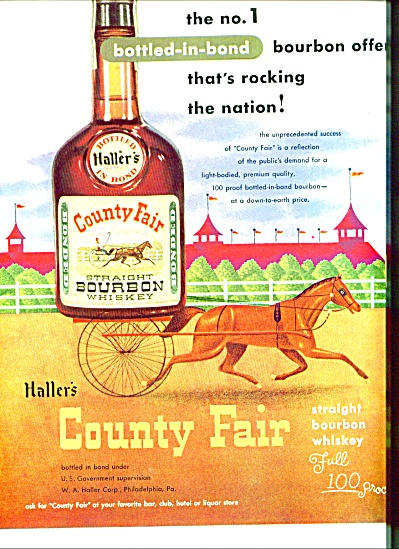 1951 -  Haller's County Fair whiskey ad (Image1)