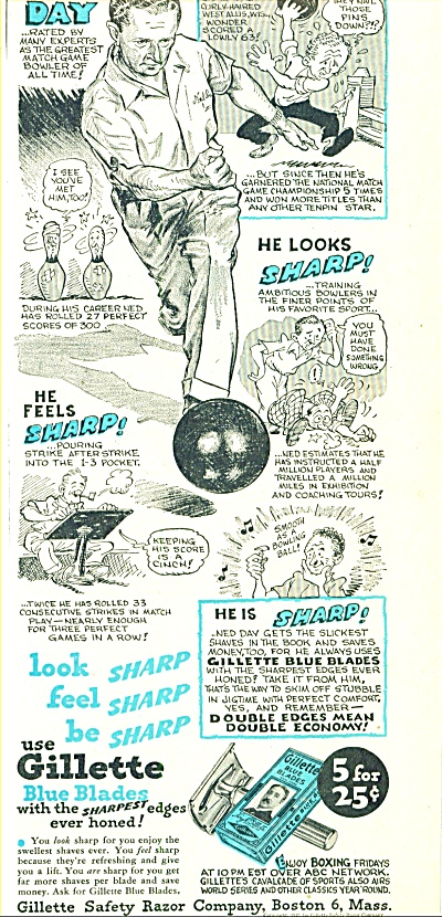 1947 -  Gillette blue blades - NED DAY (Image1)