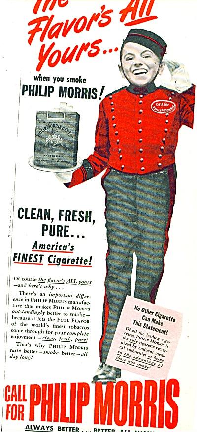 1947 -  Philip Morris -  Johnny Calling ad (Image1)