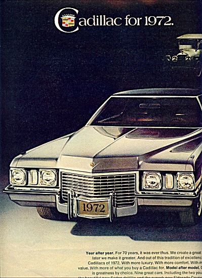 1971 - Cadillac For 1972