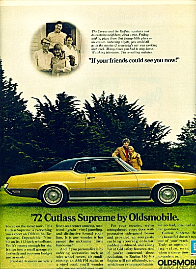 1971 - Oldsmobile Cutlass Supreme For 1972
