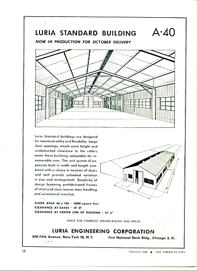 Luria Engineering Corporation ad 1946 (Image1)