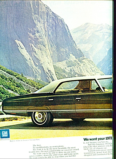 1971 - Chevrolet For 1972 Ad