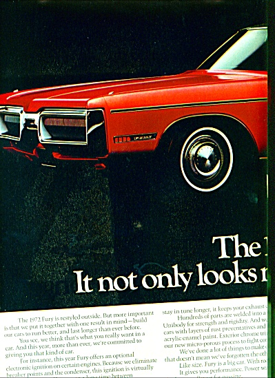 1971 - Plymouth Fury Ad