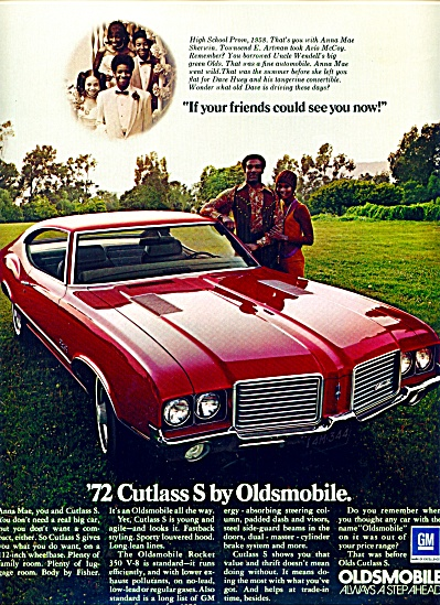 1971 - Oldsmobile Cutless For 1972