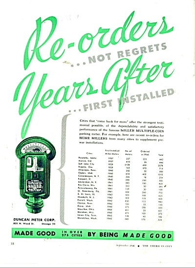 Duncan Meter Corporation ad 1946 (Image1)