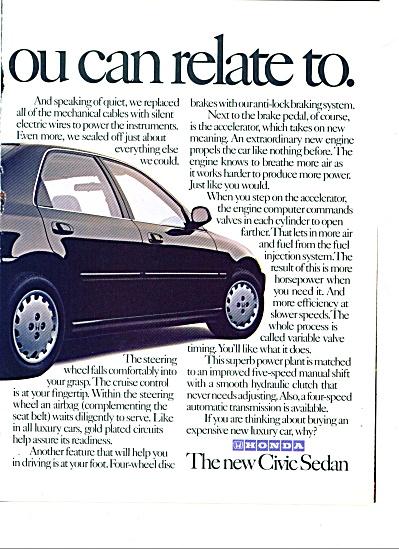 1992 -  Honda Civic auto ad (Image1)