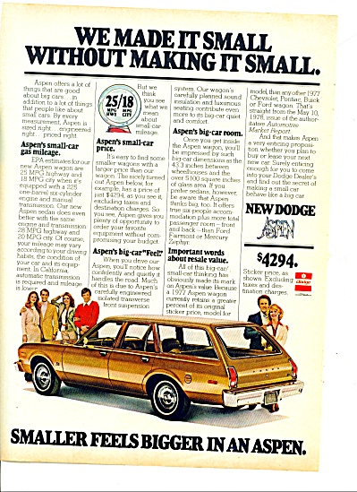 1978 - Dodge Aspen Station Wagon Ad