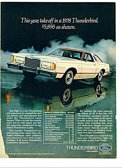 1978 -        Ford Thunderbird ad (Image1)
