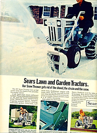 1969 -  Sears Lawn and garden tractors ad (Image1)