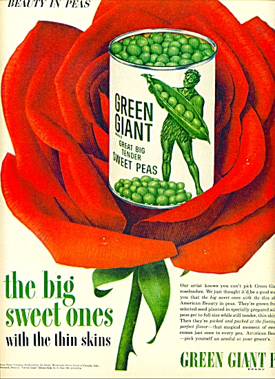 1954 -  Green Giant peas ad (Image1)