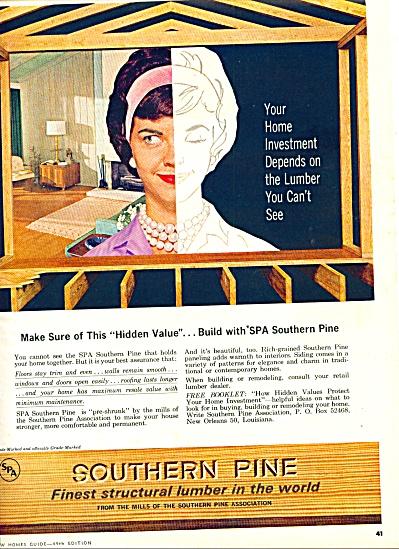 1963 -  Southern Pine lumber ad (Image1)