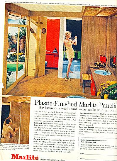 1963 -= Marlite plast finished paneling ad (Image1)