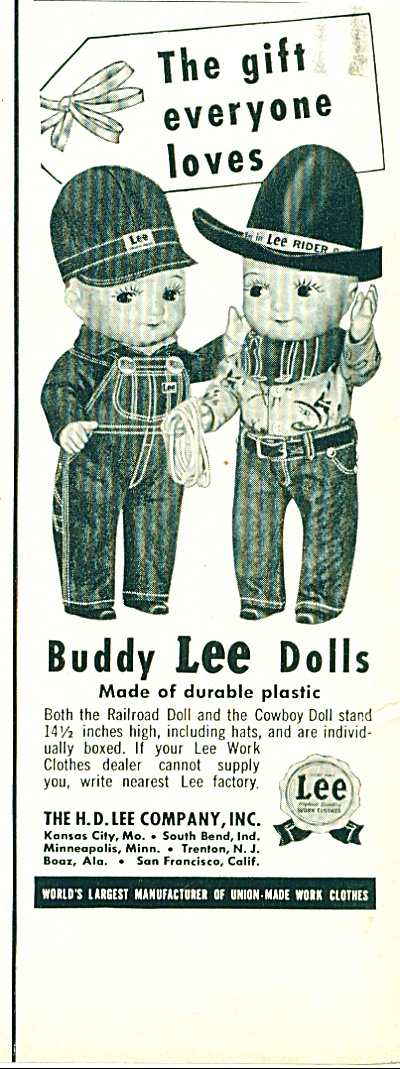 Buddy Lee Dolls Ad