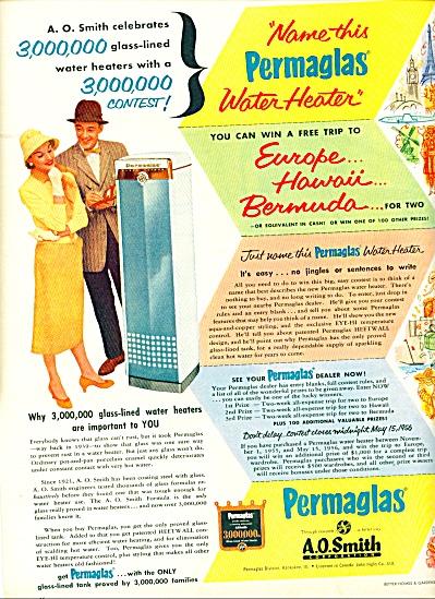 1956 -  Permaglas - A.O.Smith Corp. ad (Image1)