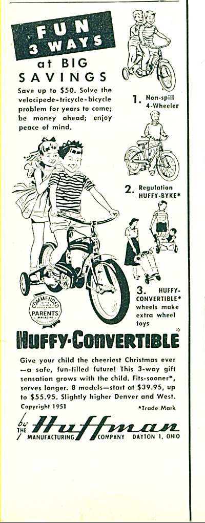 Huffy convertiblwe bicycle ad (Image1)