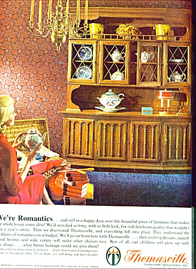 Thomasville Furniture Ad 1965 Thomasville Furniture At Miss Pack Ratz